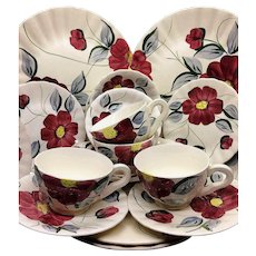 Blue Ridge Dinnerware Set 20 Pieces 4 Place Settings BECKY Pattern