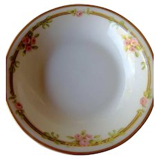 Haviland China 4 French Limoges Dessert Bowls with Pink Flowers
