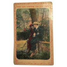 Vintage Postcard Set of 7- 1900's Couples, Dog, Pretty Lady, Child