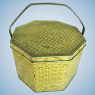 Sunshine Bakers Biscuit Tin Original Vintage Metal Basket with Handle