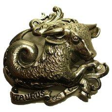 Sterling Taurus Bull Horoscope Pin