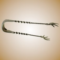 Rare & Unusual Serving Tongs by Whiting MFG. Co. (Ca. 1900)