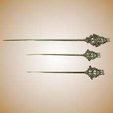 Set of Three French Attelettes--Skewers