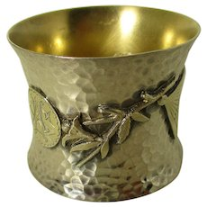 Beautiful Japonesque Sterling Napkin Ring by Wood and Hughes (1871-1899)