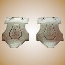 Pair of Sterling Napkin Clips Ca. 1930