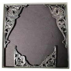 Set of 8 Sterling Book Mountings (2 sets of four) -Ca. 1900
