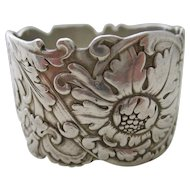 Sterling Art Nouveau Napkin Ring by Tiffany and Co.