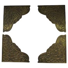 Set of 4 Brass Blotter Corners
