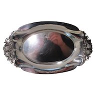 Beautifully Crafted Sterling Bread Dish Ca. 1908