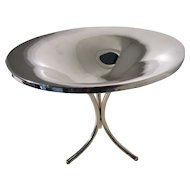"""Sterling Compote """"Space-Age"""" Look - TriPod design"""
