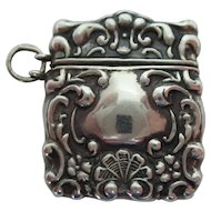 Sterling Chatelaine Stamp Case Ca. 1900