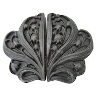 Antique Mourning Jewelry Buckle