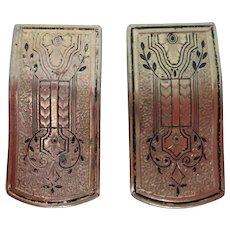 Pair of vintage dress clips - Ca. 1920-30