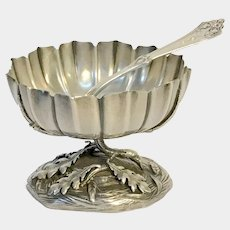 Coin Silver Salt and Spoon