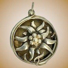 Silver Antique Chatelaine Pomander