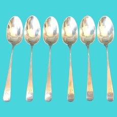6 Sterling Coffee Spoons