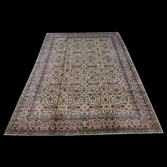 1960s Hereke Silk Carpet, 6.9 X 10ft
