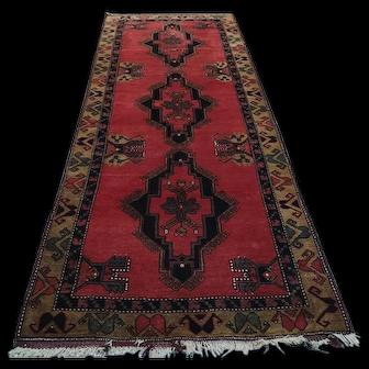Free Shipping 1950s Malatya Carpet 9.9X4ft