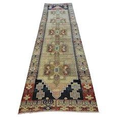 FREE SHIPPING 1960 Turkish Runner Carpet 12X6.3ft