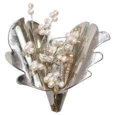 Vintage Pearls Brooch