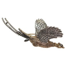 Vintage ART Bird Brooch