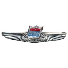 Vintage Enamel United Air Lines Future Pilot Pin