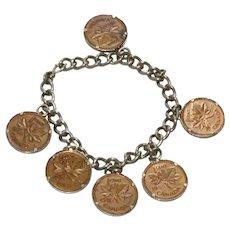 Vintage Canadian Coin Charm Bracelet