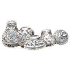 Vintage Sterling Silver Tribal Jug Pin