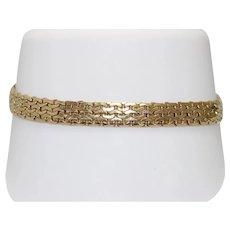 14 KT Yellow Gold Bracelet