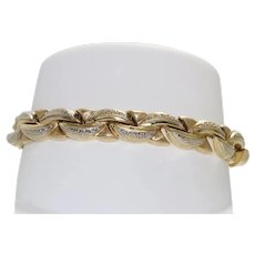 14 KT Yellow Gold Greek Bracelet