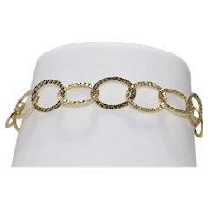 14 KT Yellow Gold Diamond Cut Bracelet