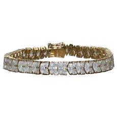 Sterling Silver Cubic Zirconia Stone Bracelet