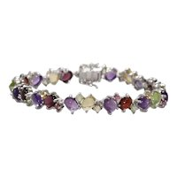 Sterling Silver Multi-Gemstones Bracelet