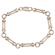 14K Yellow Gold Fancy Open Link Bracelet