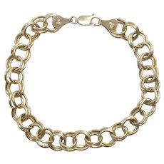 14K Yellow Gold Peruvian Double Stranded Charm Bracelet