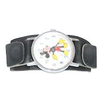 Vintage Disney Mickey Mouse Leather Watch
