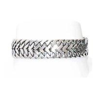Vintage Sterling Silver Dual Cuban Link Bracelet