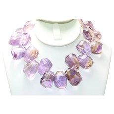 700CT Ametrine Amethyst Beaded Necklace