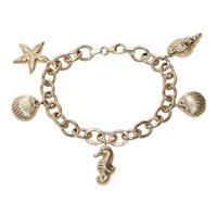"14 KT Yellow Gold ""Under The Sea"" Charm Bracelet"
