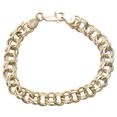 Vintage 14KT Yellow Gold Charm Bracelet