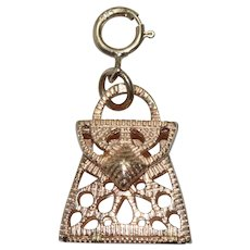 14 KT Yellow Gold Purse Charm