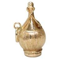 Vintage 14K Yellow Gold Wine Bottle Charm