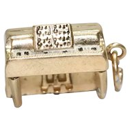 Vintage 14K Yellow Gold Piano Charm