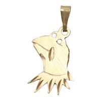 Vintage 14K Yellow Gold Hermit the Frog Charm