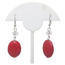 Vintage Synthetic Coral Earrings