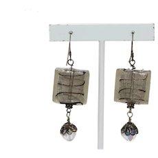 Vintage Murano Glass Costume Earrings