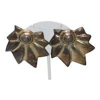 Vintage Sterling Silver Flower Earrings