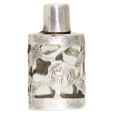 Vintage Filigree Sterling Silver Perfume Bottle