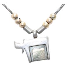 Sterling Silver 14KT Yellow Gold Hebrew Chai Necklace