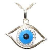 Vintage 12KT Gold Filled Evil Eye Necklace